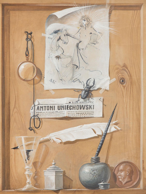 Franciszek Starowieyski Projekt plakatu do wystawy Antoniego Uniechowskiego, 1974