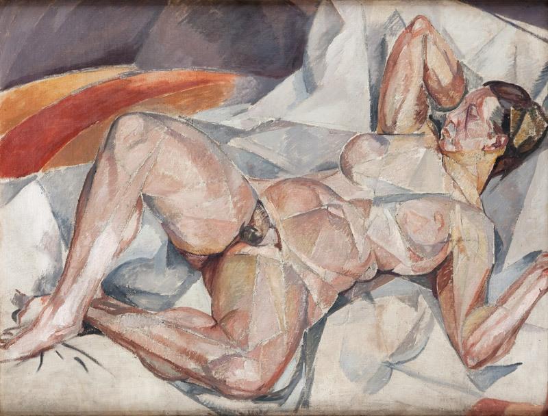 """Mela (Maria Melania) Muter (Mutermilch) """"Akt kubistyczny"""", ok. 1912 r."""