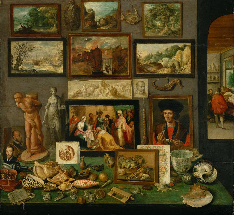 Frans II. Francken, Gabinet sztuki i osobliwości, ok. 1620-1625, Muzeum Historii Sztuki w Wiedniu, źródło: WikiCommons