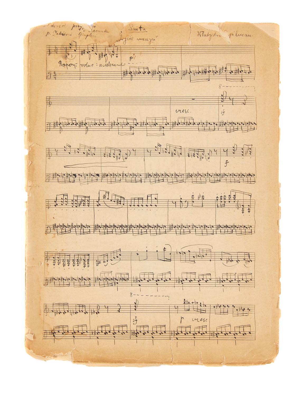 """Władysław Szpilman Rękopis partytury suity fortepianowej """"Życie maszyn"""", 1934"""