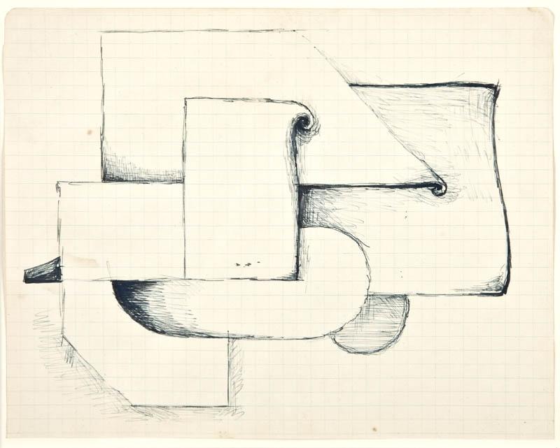 Jerzy Nowosielski, Abstrakcja Kubistyczna, 1942 r.