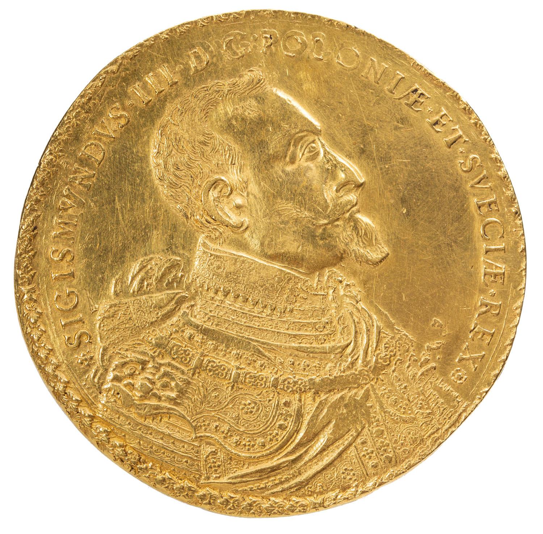Zygmunt III Waza, 50-dukatów koronnych 1621 Mennica Bydgoszcz, Samuel Ammon