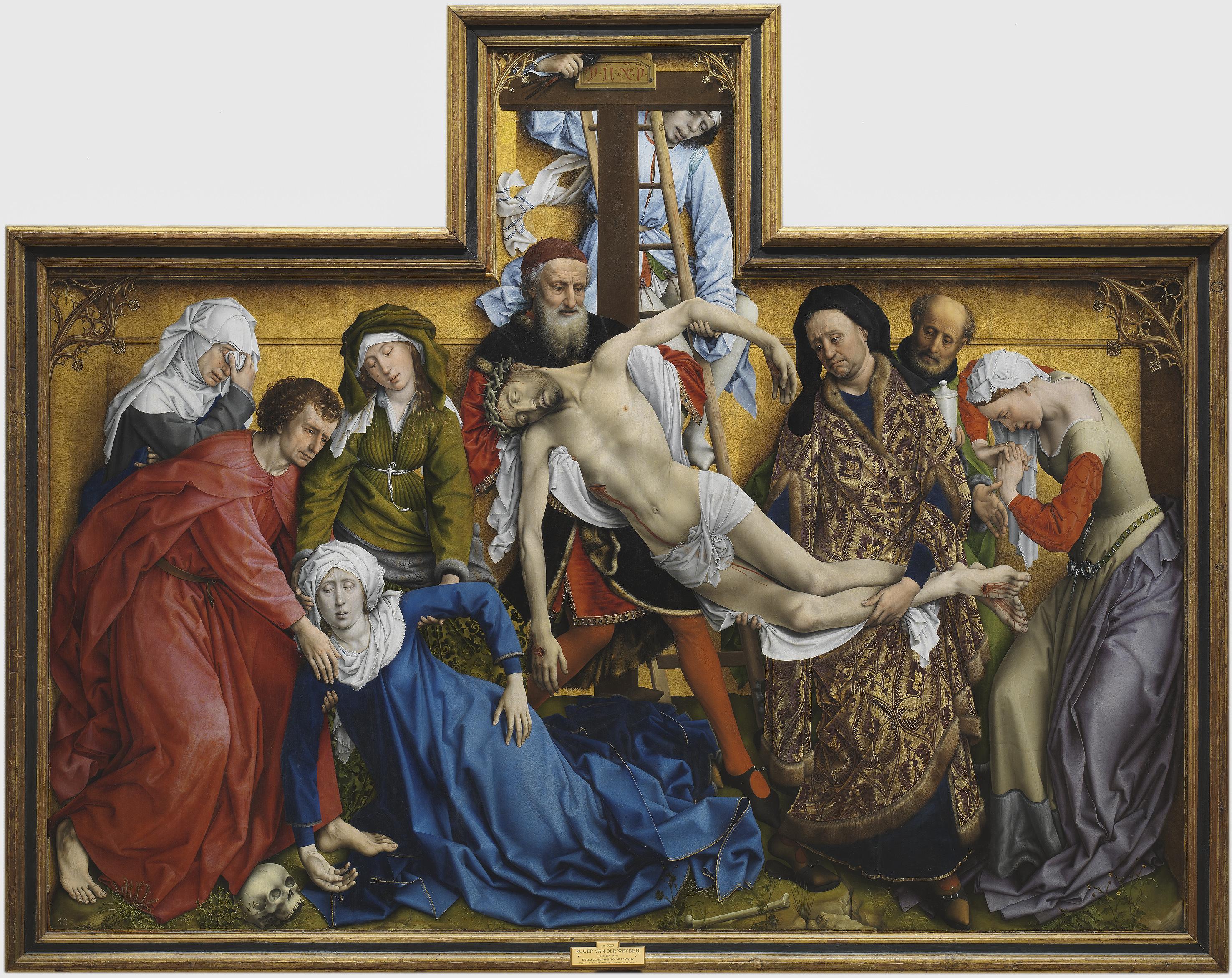 Rogier van der Weyden, Zdjęcie z krzyża, ok. 1435, jedno z arcydzieł Muzeum Narodowego Prado, źródło: WikiCommons