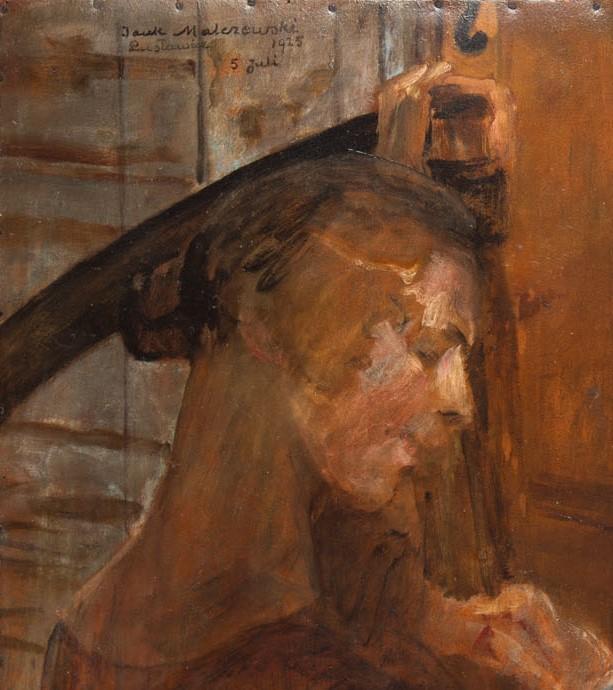 Jacek Malczewski, Portret Bronisława Preidla ze Śmiercią, 1925