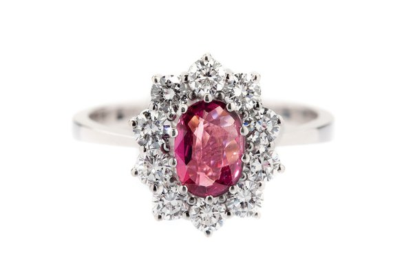 Ruby and diamond ring 20th/21st Century
