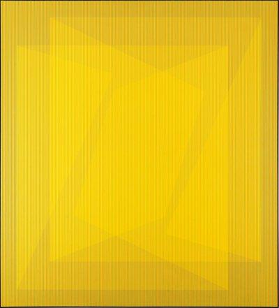 "Julian Stańczak  ""Possessive of Center"", 1969"