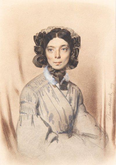 Teofil Kwiatkowski   Portret Pani Sauvage, 1839